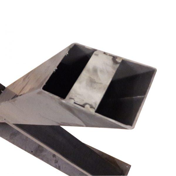 Industrieel stalen X-poot 10x10 cm onderstel onderkant