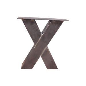 X-poot 8x8 cm - Industrieel - salontafelpoot