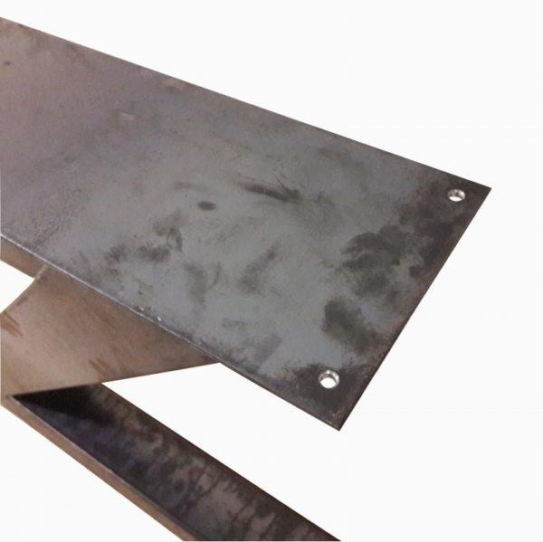 Z-poot 10x10 cm - Industrieel bovenaanzicht