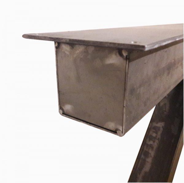 Z-poot 10x10 cm - Industrieel zijaanzicht boven