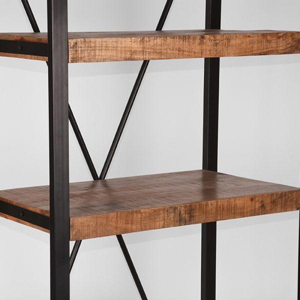 boekenkast brussels rough mangohout 80x45x185 cm detail 2  -