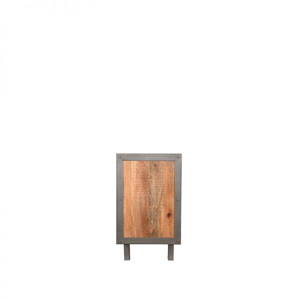 dressoir factory rough mangohout vintage metaal 180x45x80 cm zijkant  -