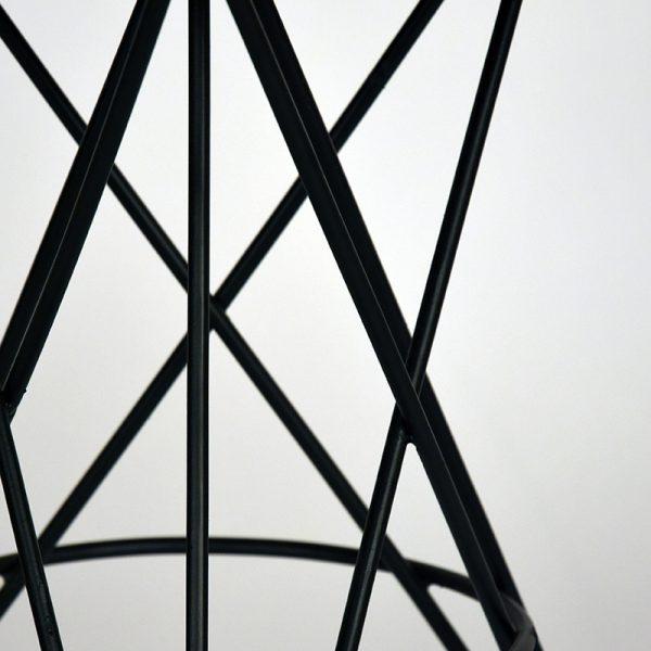 kruk paris zwart metaal rough mangohout 35x35x52 cm detail 2  -